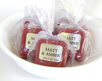 Soap RED Wedding Favors Soap Brick Red Baby Shower Favors Dark Red Bridal Shower Favors Valentines Day Wedding Favor Heart Wedding Romantic