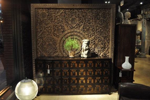 Items similar to Large Wooden Wall Art Decor. Teak Wood ...