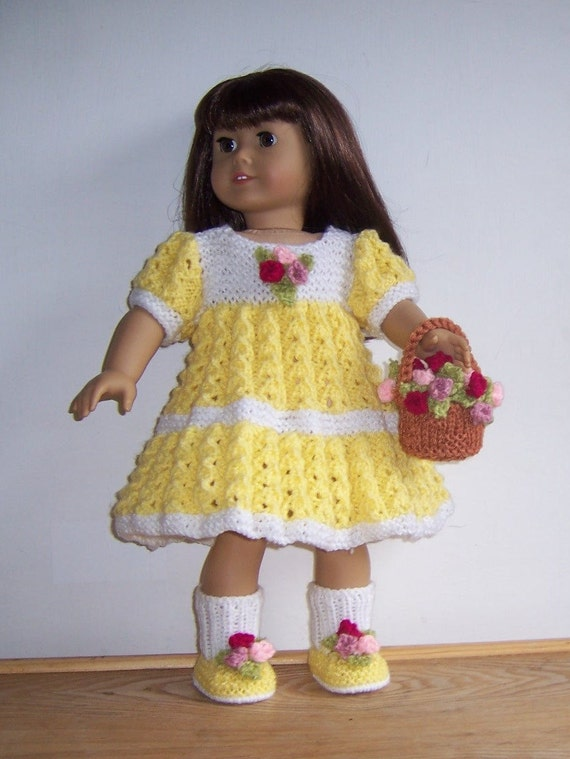 Dolls clothes PDF knitting pattern for 18