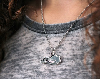 Kentucky Necklace - Home State Apparel Kentucky Home Necklace Charm