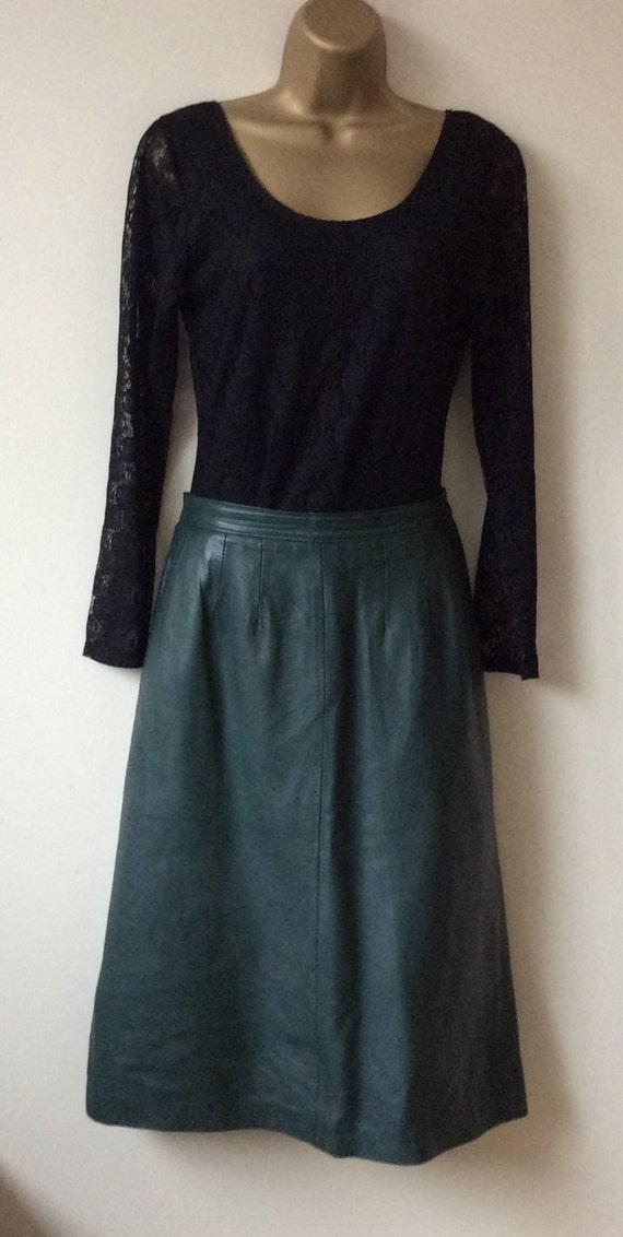 vintage leather skirt pencil style vintage eighties