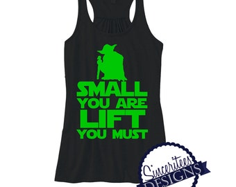 Small You Are ladies/womens star wars racerback workout tanktop