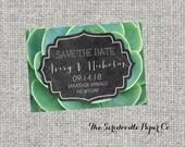 Succulent Wedding Save The Date Cards - Succulent, chalkboard, modern garden design >> DIGITAL FILE
