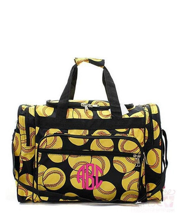Items similar to kids duffle bag monogrammed softball