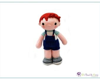 Crochet Redhead Boy Amigurumi Stuffed Doll Toy - READY TO SHIP