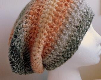 Orange Slouchy Hat Orange Crocheted Slouchy Hat Orange Wool Slouchy Hat Orange Crocheted Wool Slouchy