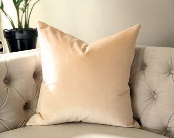 Blush Velvet Pillow Cover - Schumacher - CHOOSE YOUR SIZE