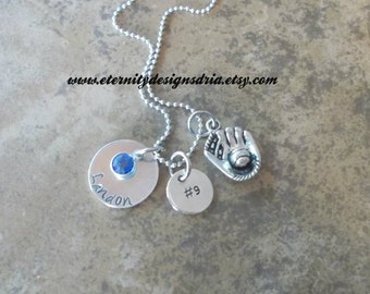 Personalized Sports Themed Team Necklace, Sports Jewelry