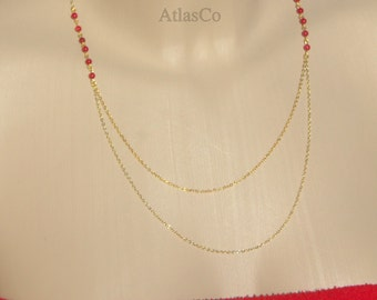 Red Coral Layering Necklace-Danty Necklace