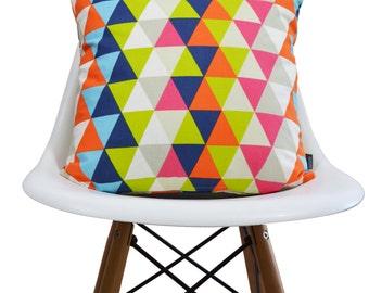 Harlequin Geometric fabric cushion cover  - Kaleidoscope Multi