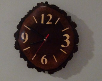 Wooden, wall ,clock, rustic wall clock, cabin wall clock