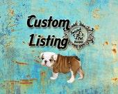"Custom Order for ""slmax1"" - Pink Plaid dog collar and leash set"