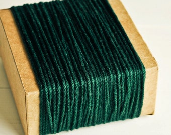 Thick Cotton Twine in Dark Green - 10 Yards - Packaging Gift Wrapping String Cord Trim Ribbon Pretty Vintage Party Crafting Supply Decor