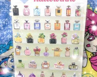 Kawaii Sticker, Cute Sticker, perfume, cosmetic, card decoration, decor, adorable, paper