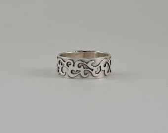 Rolling Fog Ring in Sterling Silver