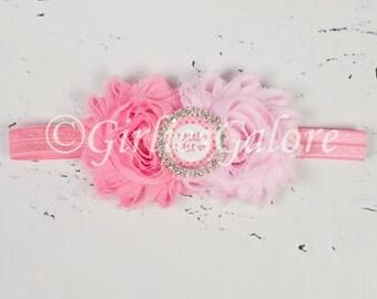 Little Sister Headband, Pink Sister Headbands, Pink Headband, Sisters Hairbows, Big Sister Headband, Little Sister Headband, sister set