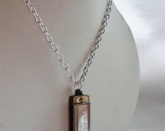 LONG Miniature Working Harmonica Necklace
