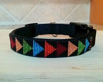 This Way, Beaded Dog Collar - Personalization Now Available