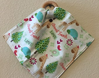 Inventory Sale: Animal friends lovey with teething ring