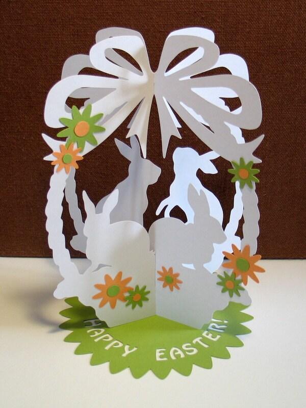 PERSONAL USE Papercut Template A5 3D Easter Basket by NineFingerJo