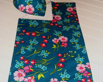 Floral Frenzy Collection - Bandana Bib & Burp Cloth Set