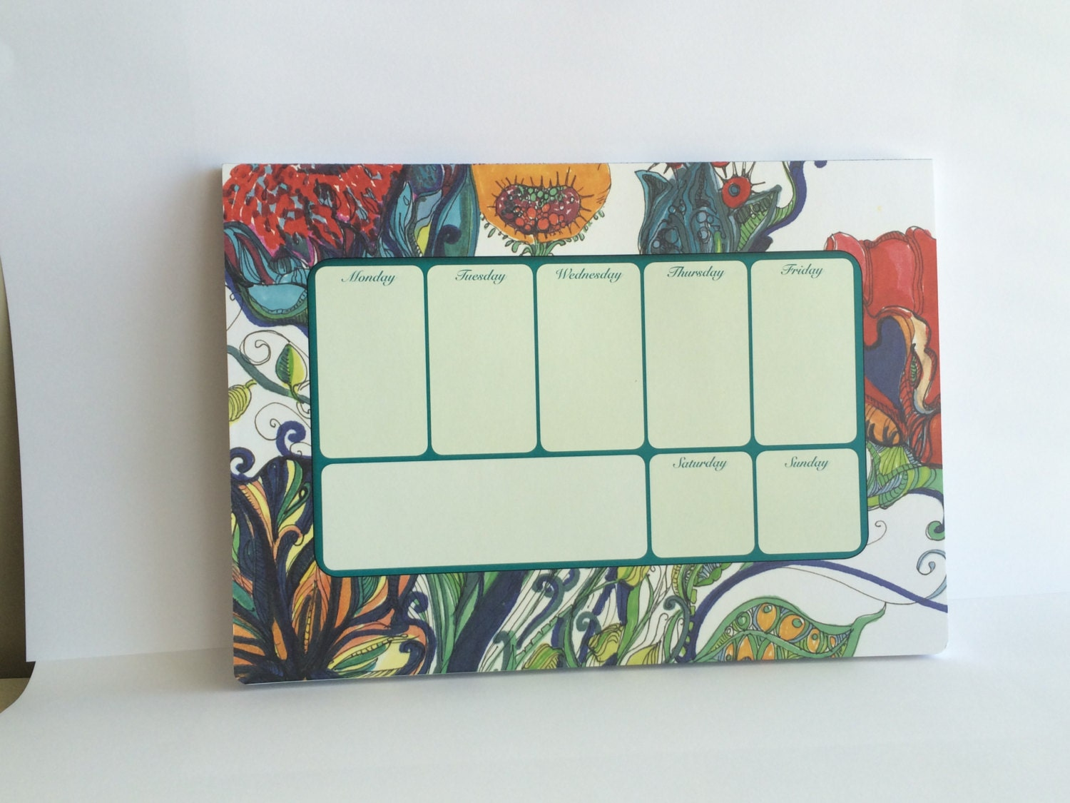 Weekly Desk Planner A Colorful Desk Accessory 52 Sheets Of