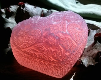 Wine and Roses Glycerin Vegan Heart Soap