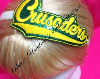 Crusaders - Team Headband Slip On - DIGITAL EMBROIDERY DESIGN