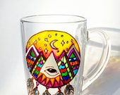 Dream Catcher, Bohemian Art, Coffee Mug, Spiritual gift