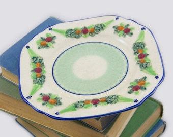 1930s Bella Robbia Maruhon ware plate.