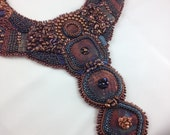 Bead embroidery statement necklace - SPECIAL ORDER, RESERVED