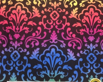 "Damask Spandex Fabric SALE 4 Way Stretch Lycra Knit By The Yard 58-60"" Wide"