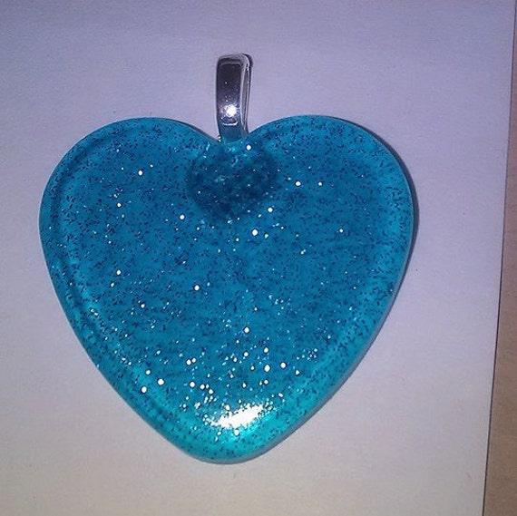 Pendant - Aqua Blue Sparkle