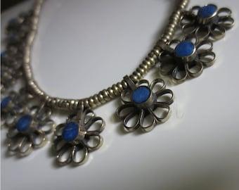 Lapis Flower Necklace