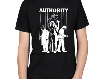 Cut the Strings of Authority T-Shirt, Anti-Illuminati Occult Shirt, New World Order, Agenda 21, Activist Truther Conspiracy Graphic Tee