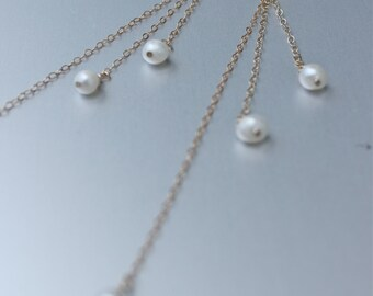 Starfish/pearl Drop earrings, Ocean jewelry