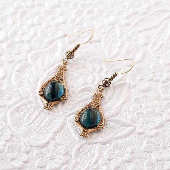 Blue Sapphire Earrings Montana Sapphire Earrings Dangle