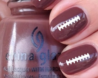 Football Ties Vinyl Nail Decals Stickers