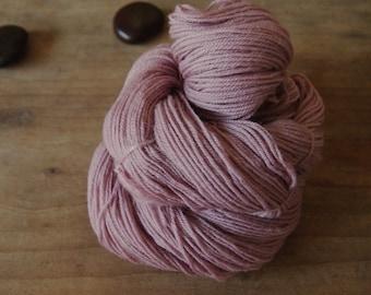 Dusty Plum Cochineal Sock Yarn, Naturally Dyed, Hand Dyed Mauve Yarn, Purple Merino Yarn, Mauve Yarn, Superwash Yarn, Cochineal Yarn