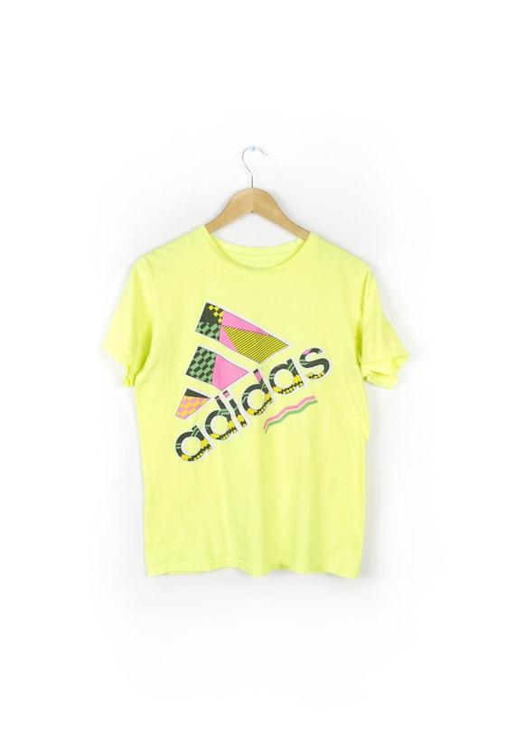 Adidas Neon t Shirts Neon Adidas t Shirt / 90s