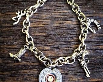 Shotgun Shell Charm Bracelet