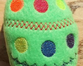 """Fleece Easter Egg Rattle about 3 1/2"""" tall"""