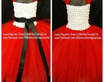 Red and White Flower Girl tutu Dress, Red White Tutu Dress, Flower Girl Tutu Dress, Red Tutu Dress, Red Flower Girl Tutu Dress, Red Tutu