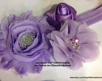 Girls Lilac Headband, Baby Lavender Headband, Lilac Headband, Purple Headband, Girls Headbands, Toddler Headband, Light Purple Headband