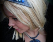 Original unique hand beaded and embroidered boho artisan jewelryhead band - Sweet Baby I