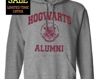 Hogwarts School Alumni Harry Potter Geek Parody Unisex Pullover Hoodie Sweatshirt