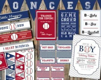 Baseball Baby Shower Printable Package