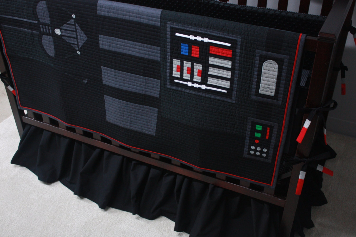Star Wars Baby Beddingdarth Vadercustom Crib Bedding Mto