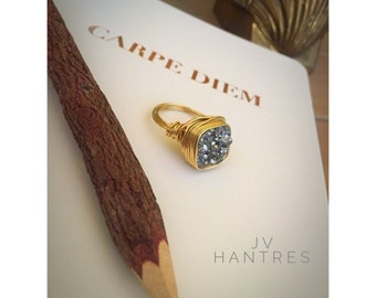 Drusy/Druzy/ Druzzy/ Wire Wrap Ring - QTY 1