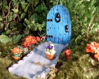 Fairy Door,Fairy Garden Kit, Fairy Door with Pathway,Garden Kit, Miniature Fairy Gardens, Magical Pot Gardens, Outdoor Fantasy Gardens